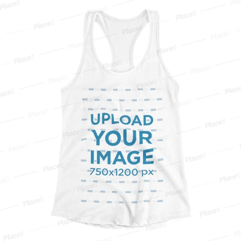 racerback tank top mockup with a plain background 115 el
