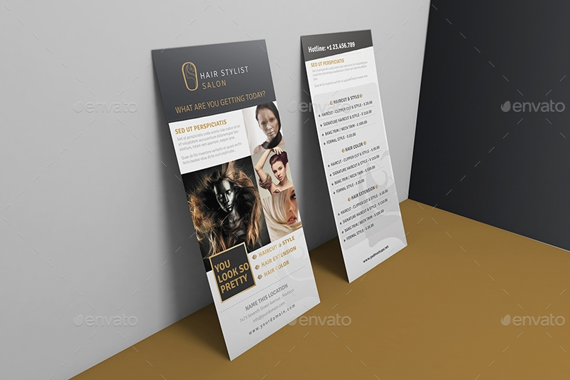 rack card and voucher mockups