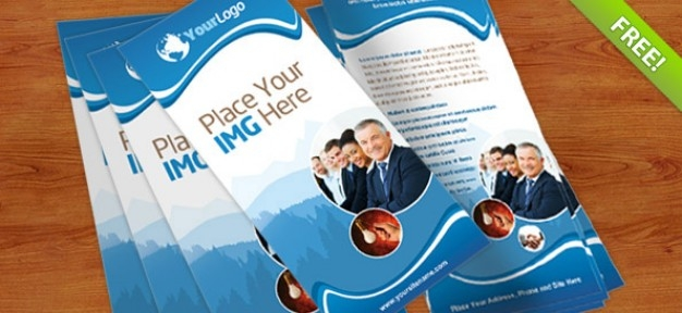 rack card psd template psd file free download