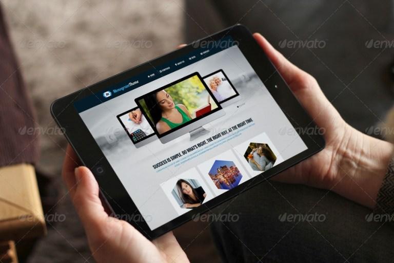 realistic tablet mockups black mini