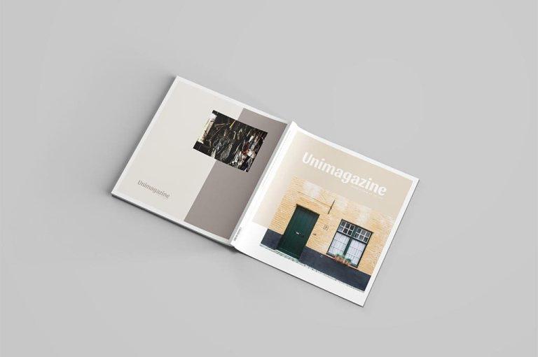 set of square brochure mockups mockupworld