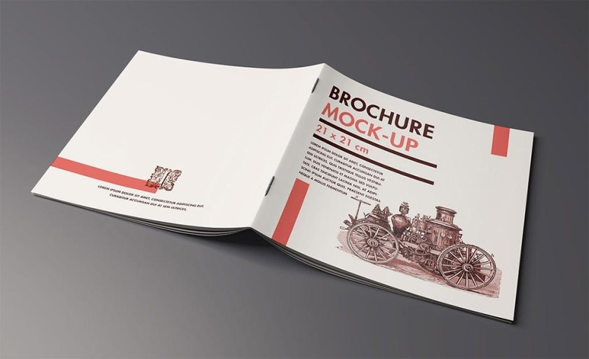 set of square brochure mockups mockupworld