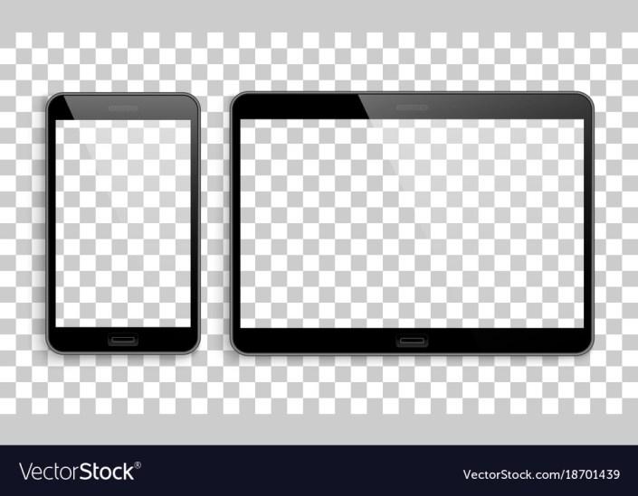smartphone tablet mockup transparent background