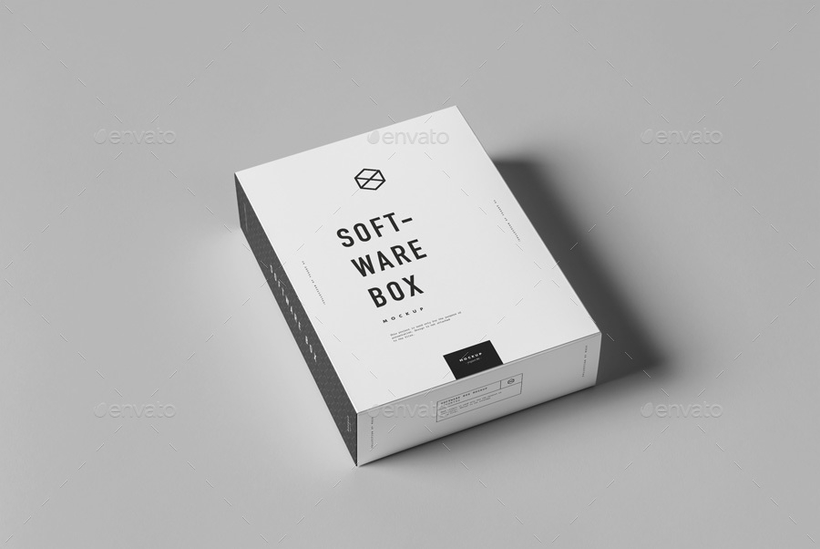 software box mock up