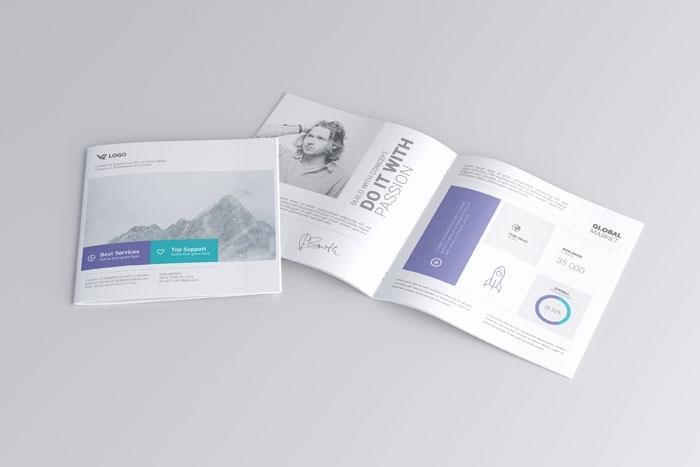square brochure mockup psd free elegant 61 best brochure templates