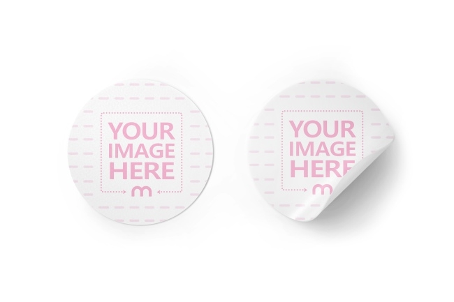 stack of round stickers 3d mockup generator mediamodifier