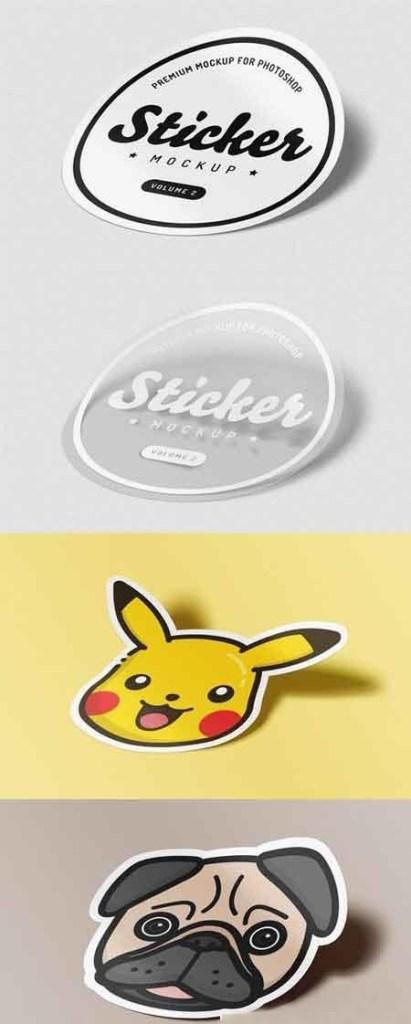 sticker mockup for photoshop vol 2 heroturko download
