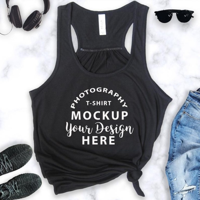 tank top mockup tank mockup bella canvas flowy racerback tank 8800 mockup color black