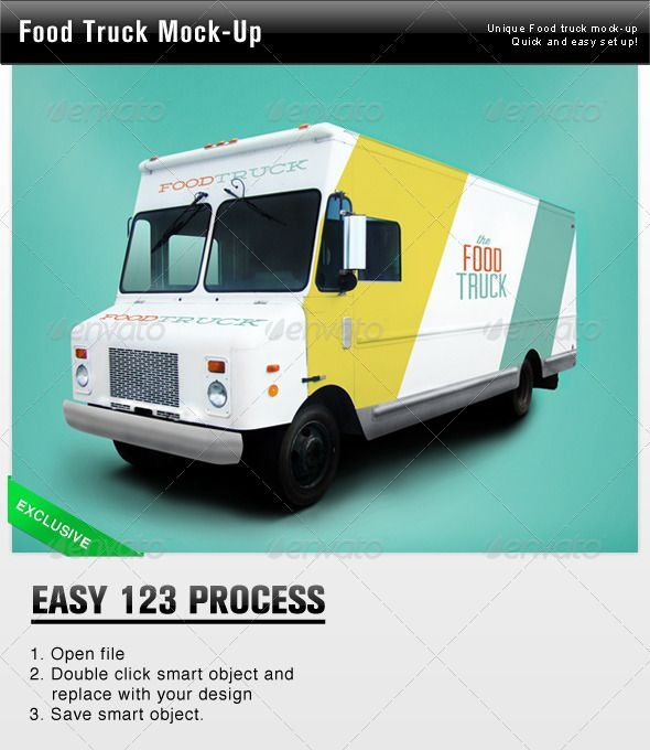 this is a great food truck mockup it is very effective because it