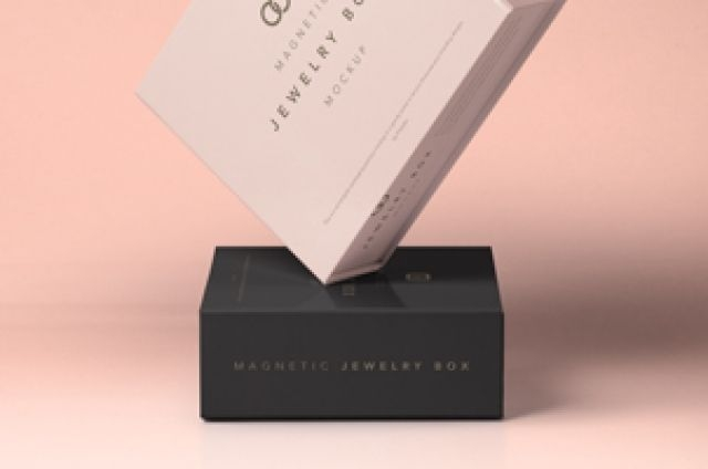 this is a set of beautiful psd jewelry packaging magnetic