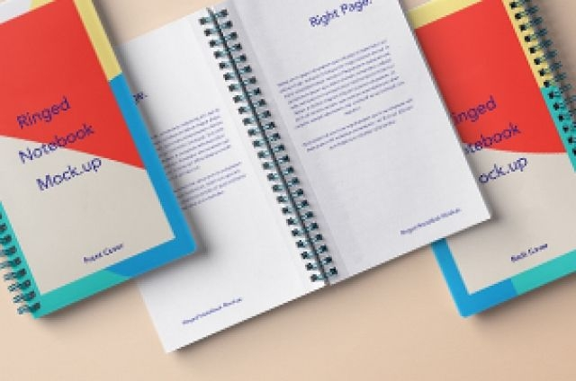 this is a spiral ringed psd notebook mockup with its front