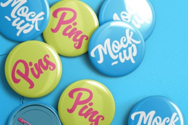 this is an overhead view of our psd pin mockup and psd pin