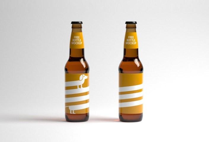 two bottles mockup mockupworld