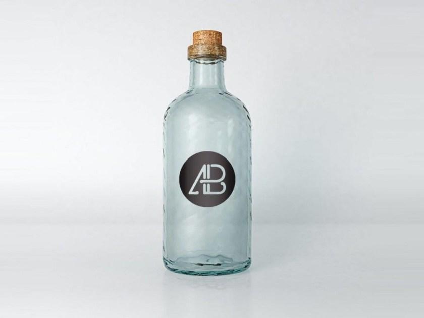 vintage glass mockup graphic design bottle mockup mockup