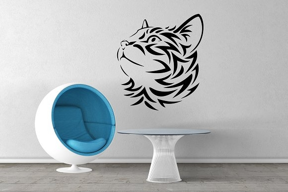 wall mockup sticker mockup vol 1