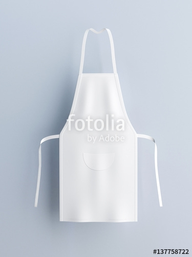 white apron apron mockup 3d rendering stock photo and