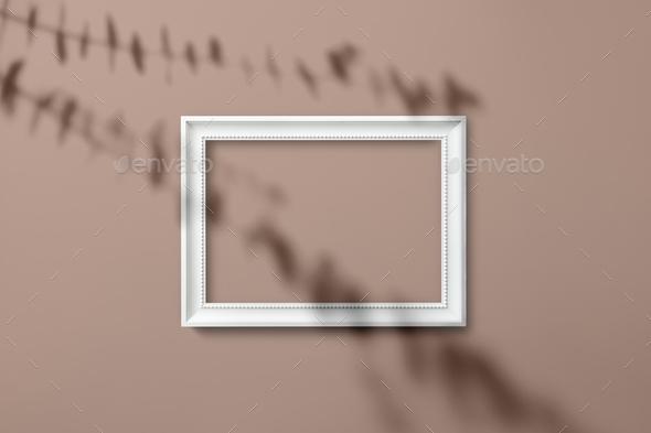 white picture frame mockup