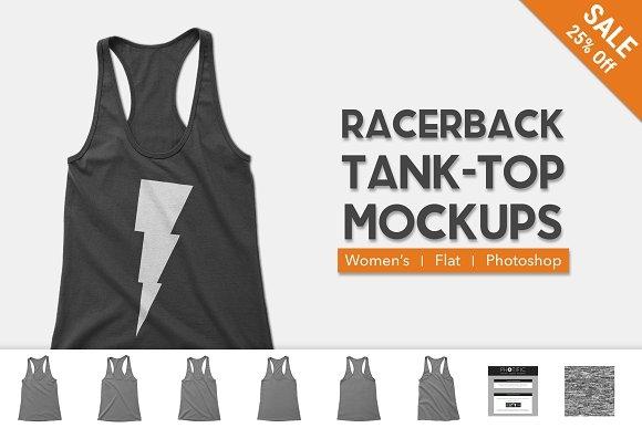 womens racerback tank top mockups