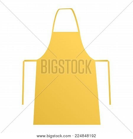 yellow apron mockup vector photo free trial bigstock