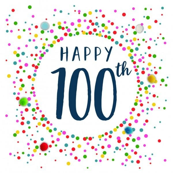 100th Birthday Card - candacefaber.com