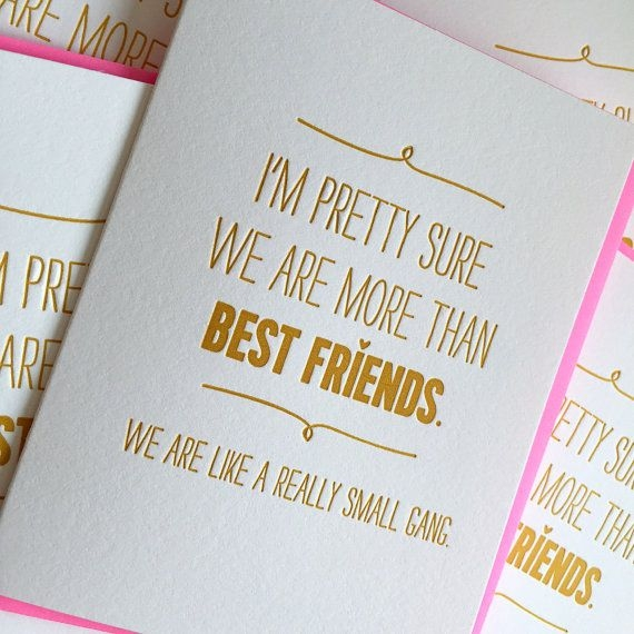 birthday card for best friend gift we are like a really