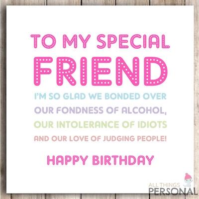Best Friend Birthday Card - candacefaber.com