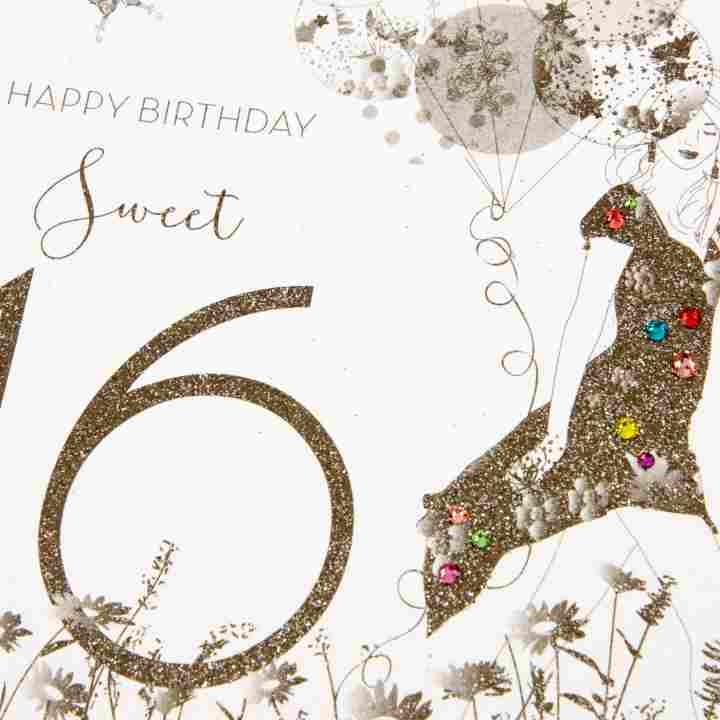 Sweet 16th Birthday Card - candacefaber.com