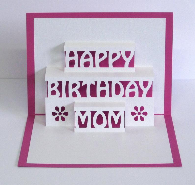 Happy Birthday Mom Card - candacefaber.com