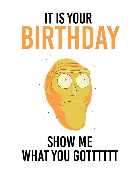 """Rick And Morty Birthday Card - candacefaber.com"""" title="""