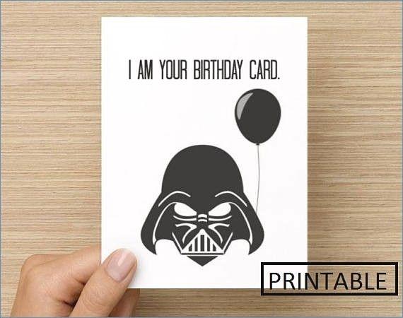 free printable star wars birthday card