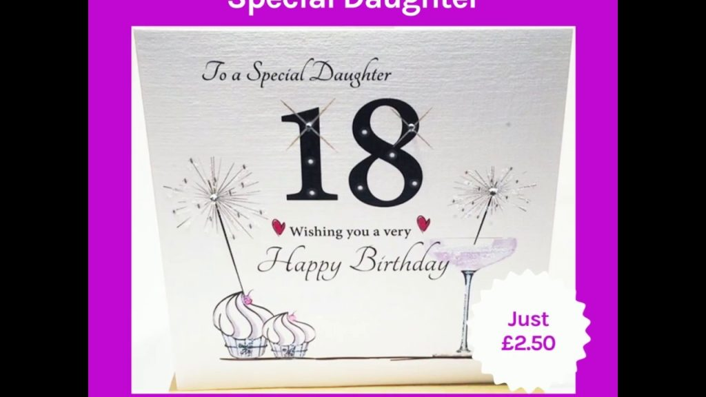 18th birthday card special daughter