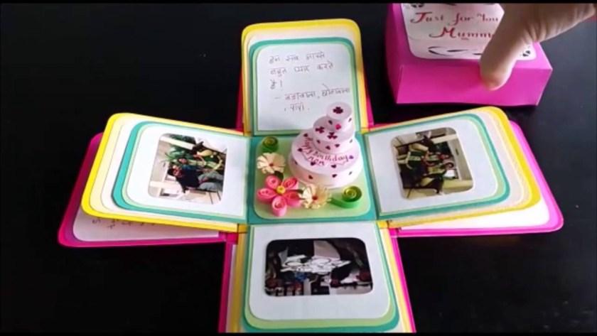 3d birthday box card youtube
