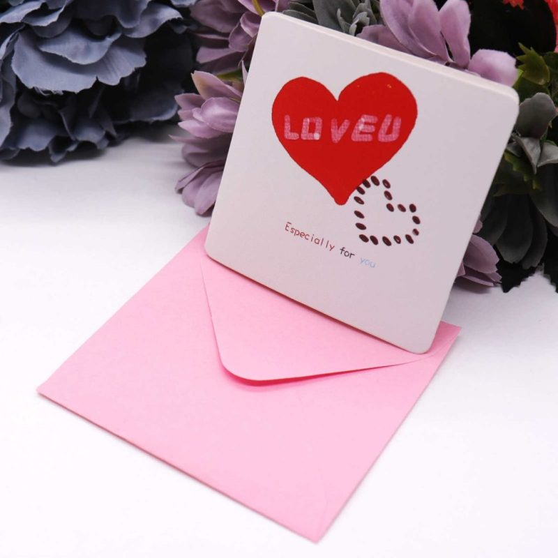 7pcsset korea creative cute mini greeting card birthday card message greeting cards hollow teachers day cards