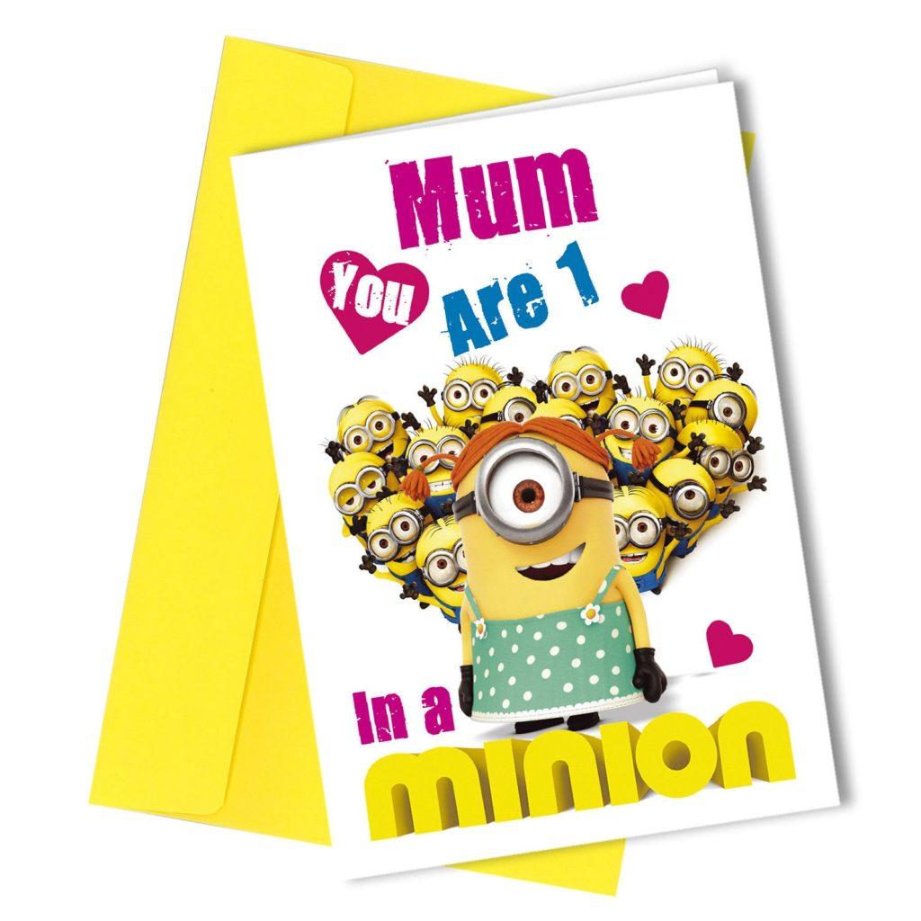96 one in a minion birthday or mothers day card funny humour rude joke