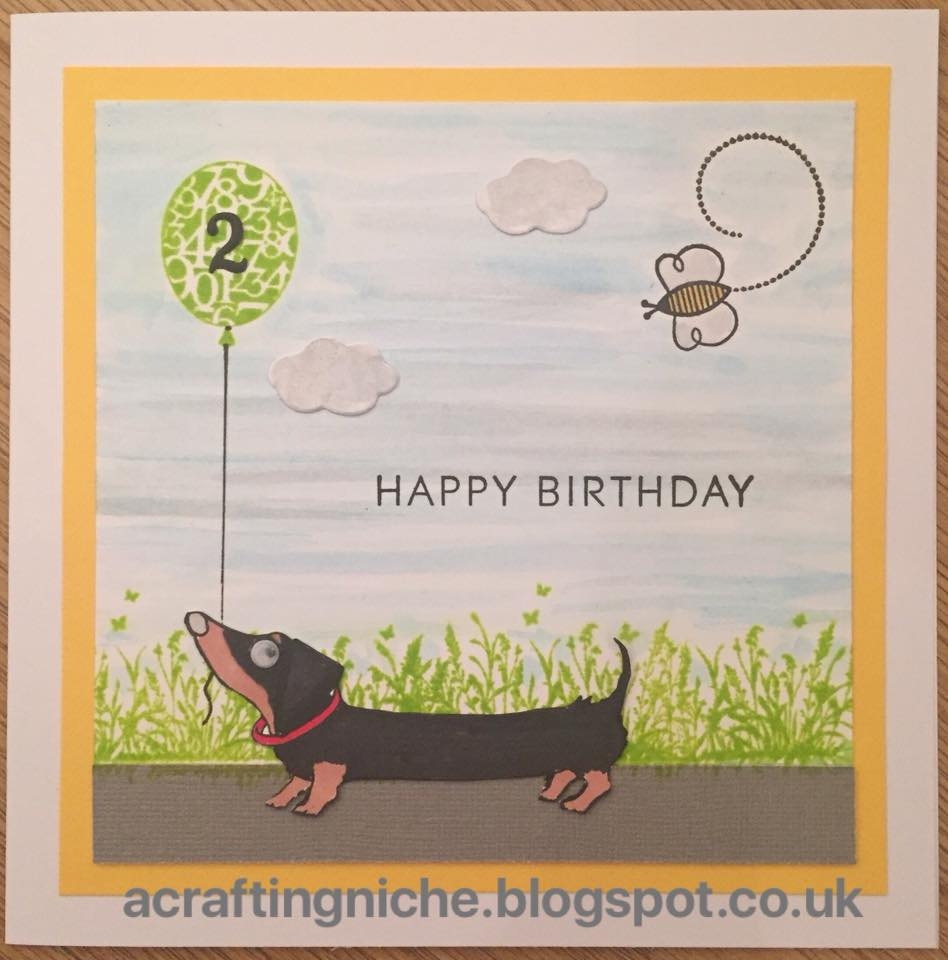 a crafting niche dachshund birthday card