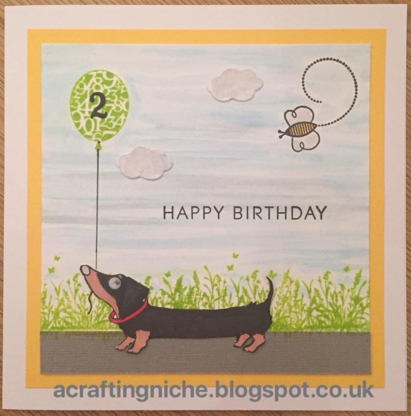 a crafting niche dachshund birthday card