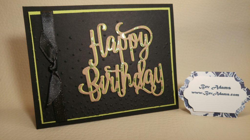 a handsome masculine birthday card bev adams independent