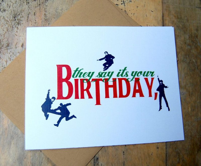 beatles birthday card they say its your birthday beatles