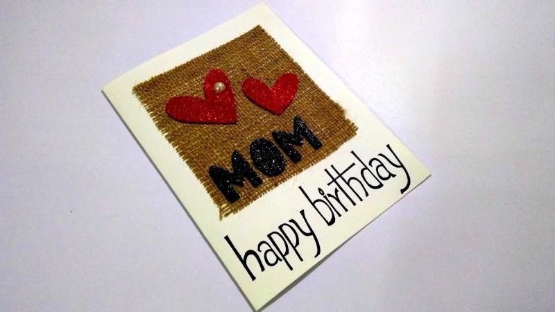 beautiful handmade birthday card idea for mom complete tutorial