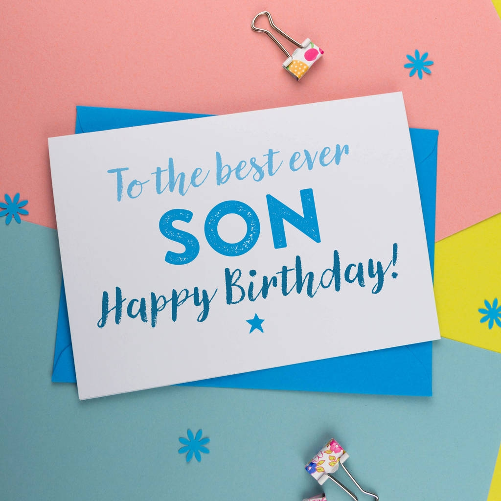 birthday card for best son