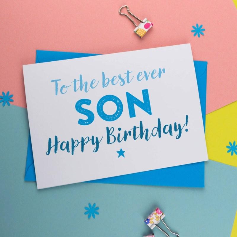 birthday card for best son