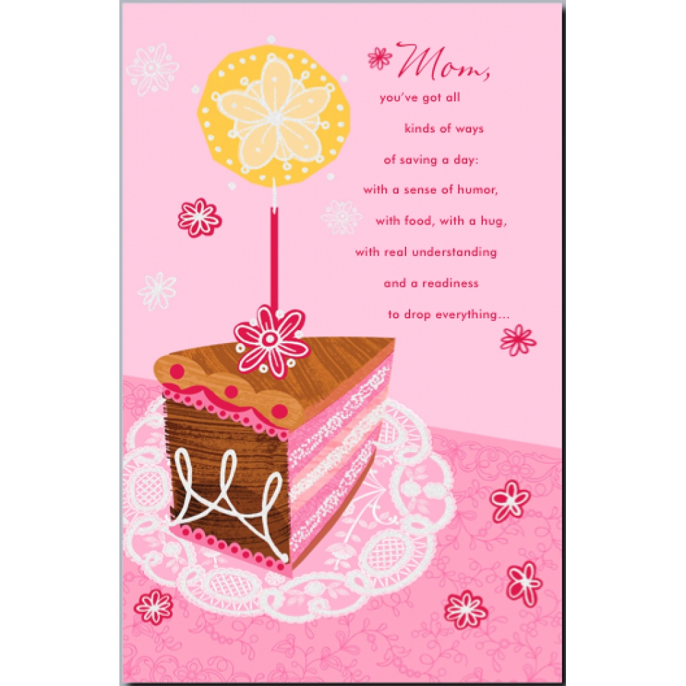 birthday card for mum top birthday greeting card mom ot28p