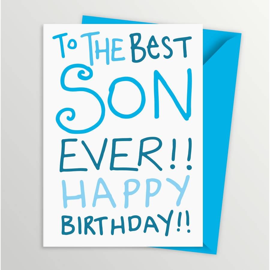 birthday card for son