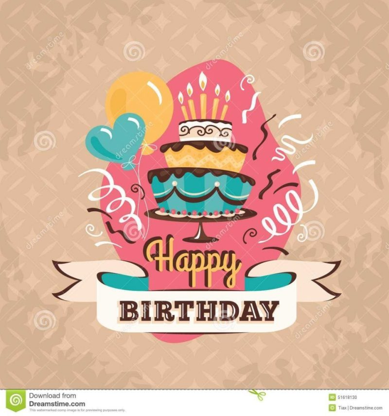 birthday card illustration 650695 vintage birthday