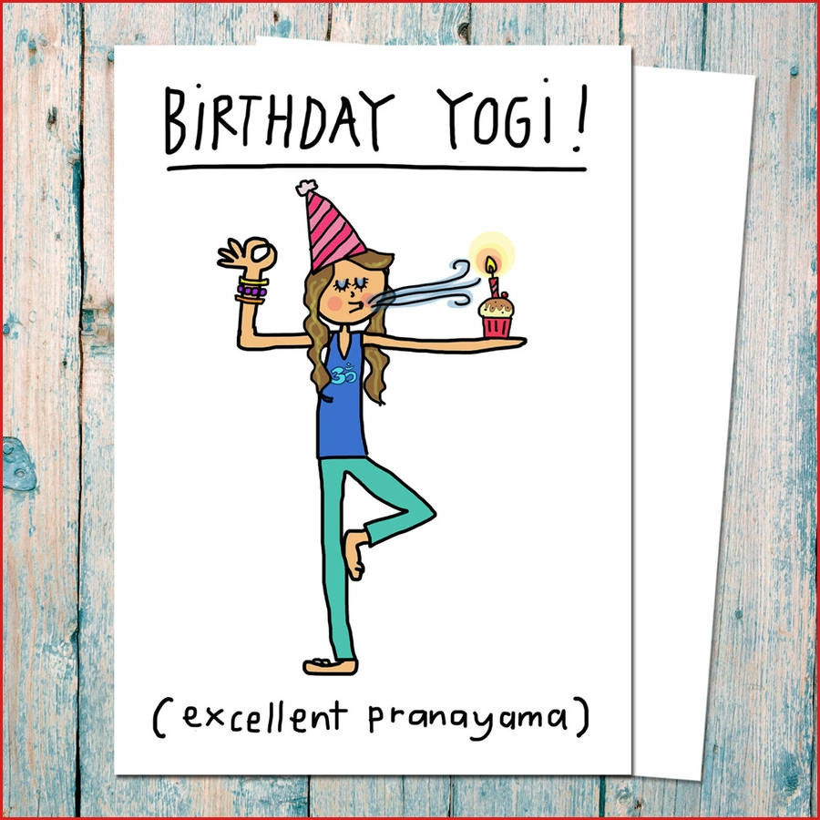 birthday yogi birthday card for yoga teachers funny