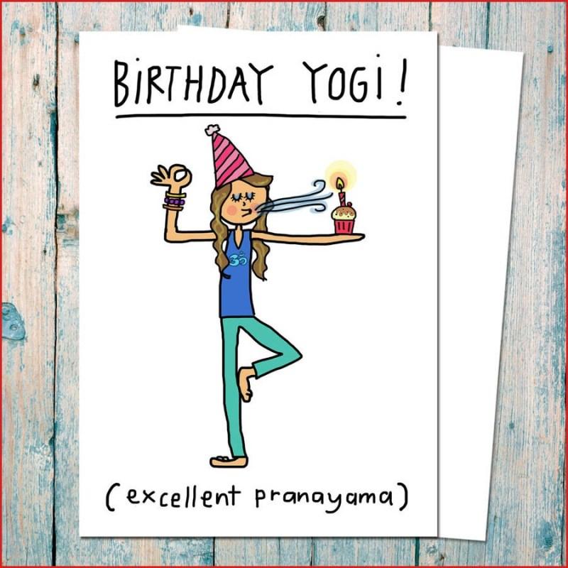 birthday yogi birthday card for yoga teachers funny
