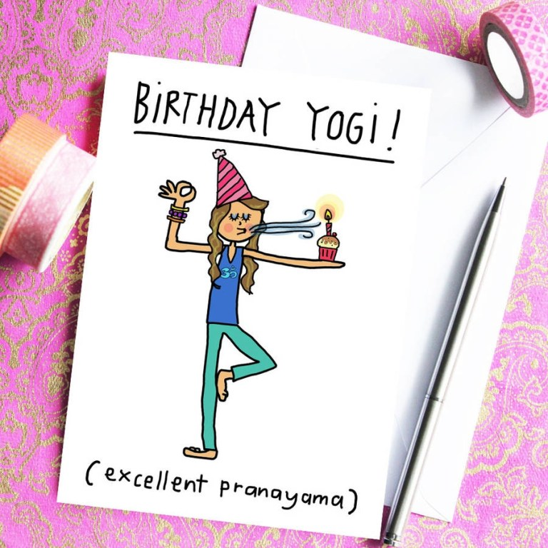 birthday yogi birthday card for yoga teachers