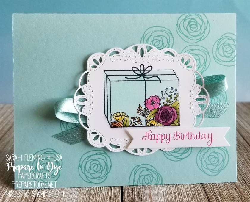 blended birthday box prepare to dye papercrafts