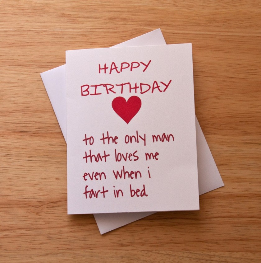 boyfriend birthday birthday card fart card boyfriend gift card for him naughty card funny card husband birthday heart love card