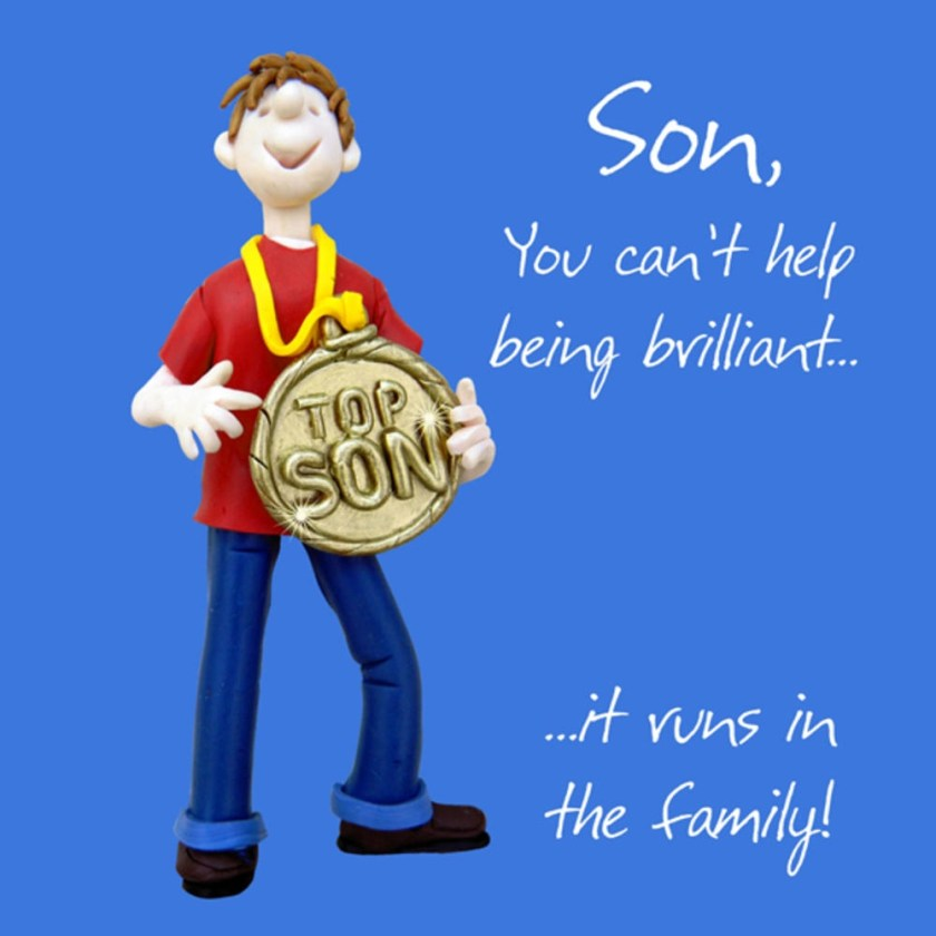 brilliant son birthday greeting card one lump or two
